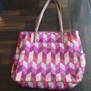 Vera Bradly nylon pink geometric tote bag